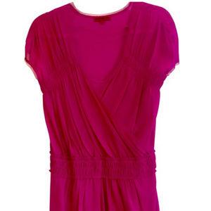 VIVIENNE TAM hot fuschia dress